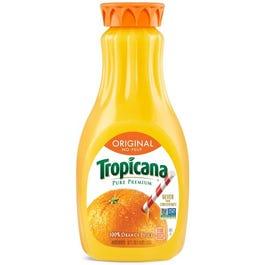 Tropicana Pure Premium Orange Juice, Original (no pulp) - 52 oz. (CASE)