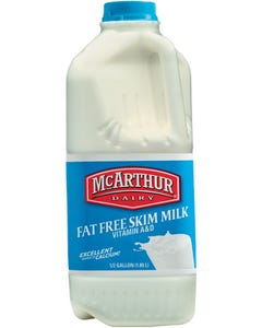 Mc Arthur Skimmed Milk - 1/2 Gallon (CASE)