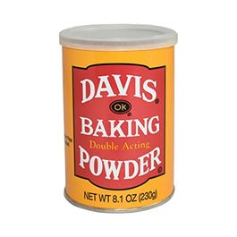 DAVIS  8 OZ BAKING POWDER (CASE)