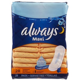 Always Maxi Overnight Pads without Wings - 28 Cnt
