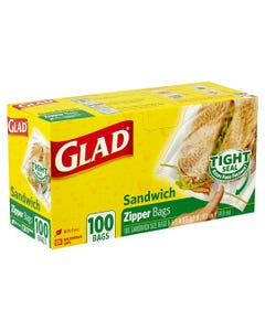 GLAD 60062 ZIPPER SANDWICH 100 - 100'S (CASE)