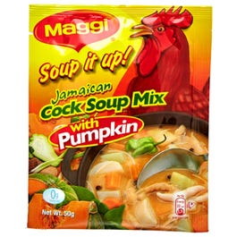 Maggi Soup It Up Cock Soup Mix w/ Pumpkin Soup Mix - 50 grams (CASE)