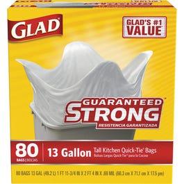 Glad Garbage Bag (White) - 80/13 Gallon (CASE)