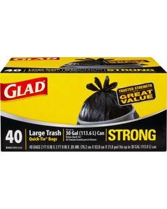 GLAD 60035 GAR BAG 30 GL (BLK) (CASE)