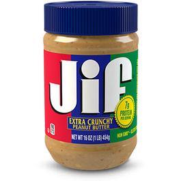 Jif Crunchy Peanut Butter, Jar - 16 OZ