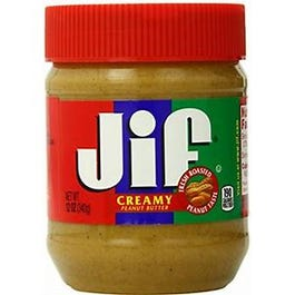 Jif Crunchy Peanut Butter, Jar - 12 OZ