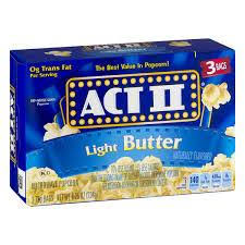 ACT II 3CT LIGHT BUTTER - 3 CT (CASE)