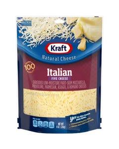 Kraft Italian Five Cheese Blend Shredded Cheese - 8 OZ (CASE)