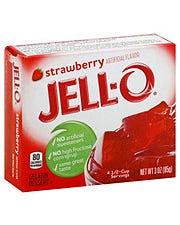 Jell-O Strawberry Gelatin Dessert - 3 oz (CASE)