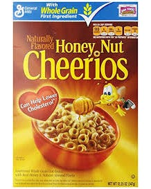 Honey Nut Cheerios Cereal - 347 Grams (CASE)