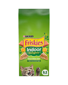 Purina Friskies Indoor Delights Dry Cat Food - 6.3 Lbs (CASE)