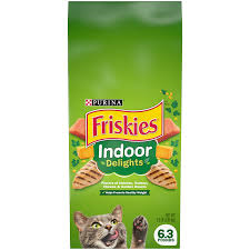 Purina Friskies Indoor Delights Dry Cat Food - 6.3 Lbs (CASE)