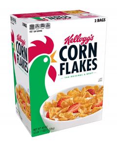 Kellogg's Corn Flakes, Family Size Cereal (2 Bags) - 43 oz (Piece)