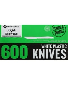 PLASTIC  KNIVES - 600 CT (Piece)