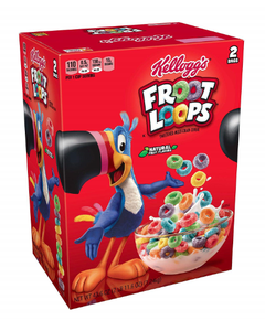 Kellogg's Froot Loops, Family Size Cereal (2 Bags) - 43.6 oz (Piece)