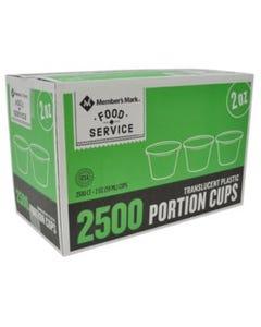 MM PLASTIC PORTION CUP 2 OZ - 2500 CT (CASE)