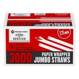 C/P-1 STRAWS B & C JUMBO WRAPP - 3000 CT (Piece)