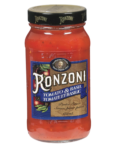 Ronzoni Marinara Tomato & Basil Pasta Sauce - 650 ML (CASE)
