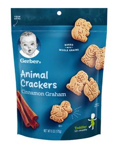 Gerber Animal Cracker, Cinnamon Graham - 6 oz