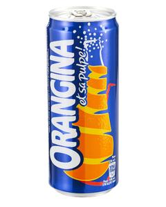 Orangina Soft Drink, Can - 33 CL