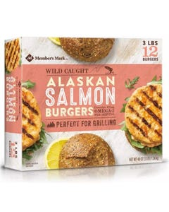 Memebr's Mark Frozen Alaskian Salmon Burgers - 2Lbs (Piece)