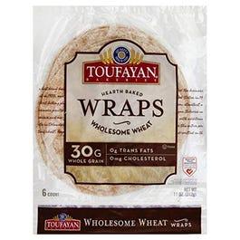 Toufayan Wraps Wholesome Wheat - 11 oz (CASE)