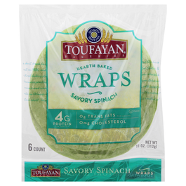 Toufayan Wraps Savory Spinach - 11 oz (CASE)