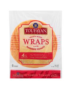 Toufayan Wraps Tomato Basil - 11 oz (CASE)