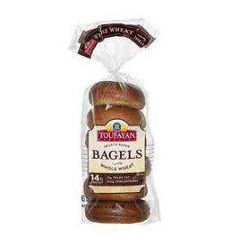 Toufayan Bagels Whole Wheat - 20 oz (CASE)