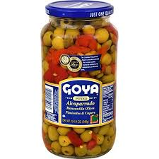 C/P-1 GOYA PITTED OLIVES 6'S - 2/19.25 (Piece)