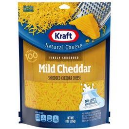 Kraft Mild Cheddar Shredded Cheese - 8 OZ (CASE)