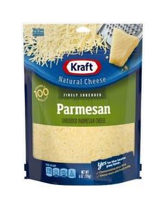 Kraft Parm Finely Shredded Cheese - 6 OZ (CASE)