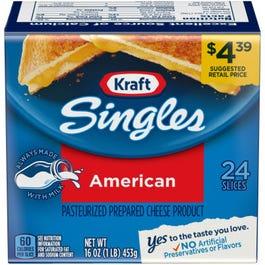 Kraft Singles American Cheese 24 Slices - Lb (CASE)