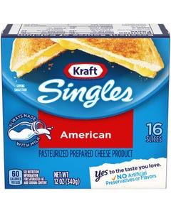 Kraft Singles American Cheese 16 Slices - 12 OZ (CASE)