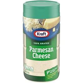 Kraft 100% Grated Parmesan Cheese - 8 OZ (Piece)