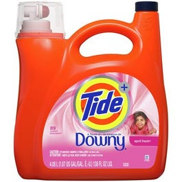 Tide Liquid Laundry Detergent with a Touch of Downy, April Fresh 89 Loads - 138 oz (Piece)