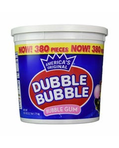 DUBBLE BUBBLE BUBBLEGUM - 380 CT (Piece)