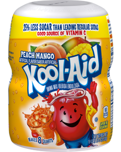 Kool Aid Peach Mango Juice Mix - 8 Qrt, 19 oz (CASE)