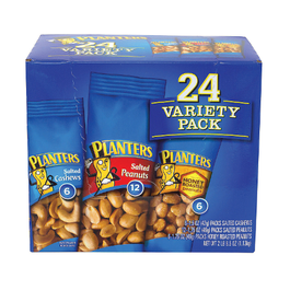 Planters Variety Pack (Salted Cashews, Salted Peanuts & Honey Roasted) - 24 Cnt (Piece)