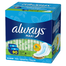 Always Maxi Long Super Pads with Wings - 90 Cnt (Piece)