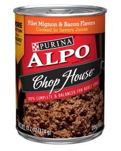 Purina Alpo Chop House Filet Mignon & Bacon Flavors - 13.2 oz.
