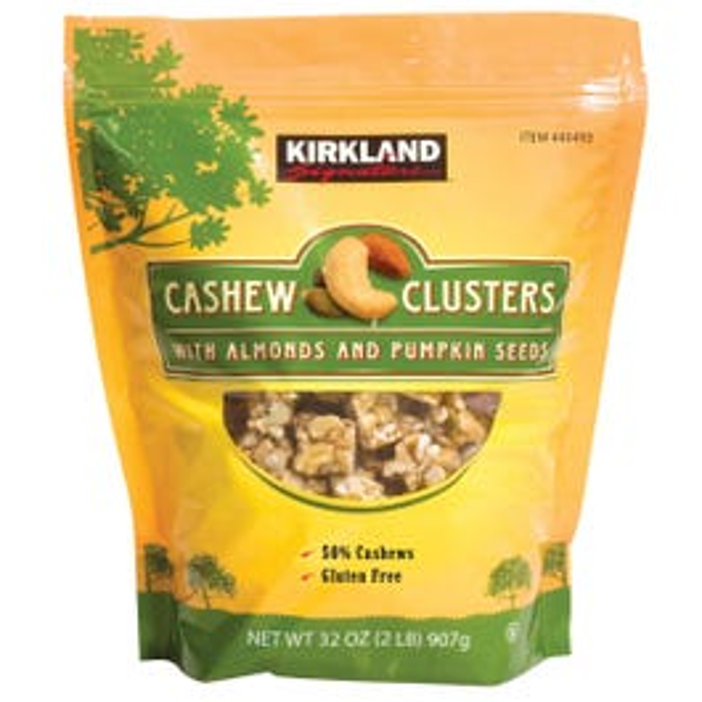 Kirkland Signature Cashew Clusters w/Almonds and Pumpkin Seeds - 32 oz (Piece)