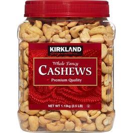 Kirkland Signature Whole Fancy Cashews - 40 oz. (Piece)
