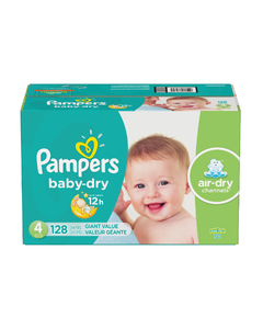 Pampers Baby Dry Disposable Baby Diapers Size 4 - 128 Cnt (Piece)