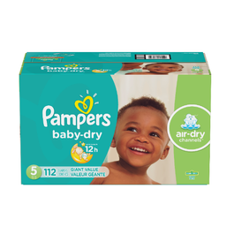 Pampers Baby Dry Disposable Baby Diapers Size 5 - 112 Cnt (Piece)