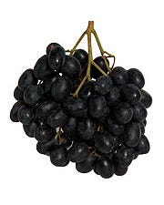 Fresh Seedless Extra Large Black Grape - 2 Lbs (CASE)