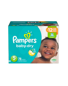 Pampers Baby Dry Disposable Baby Diapers Size 5, Super Pack - 78 Cnt (Piece)