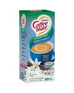 Nestle Coffee-Mate, fr. vanilla, nondairy,shelf-stable, liquid creamer single-serve cups - 50 count  (Piece)
