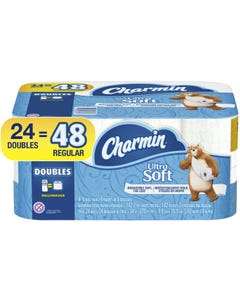 Charmin Ultra Soft Toilet Paper, 24 Double Rolls - 24 DR (Piece)