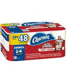 Charmin Ultra Strong Toilet Paper, 24 Double Rolls - 24 DR (Piece)